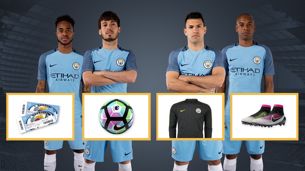 COMPETITION TIME: Visit prizes.mancity.com for a chance to win.