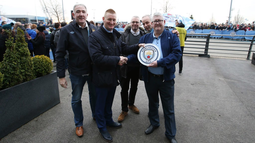 Our Belfast branch collected their plaque from former Blue Steve Lomas before the 2-1 win against Arsenal.