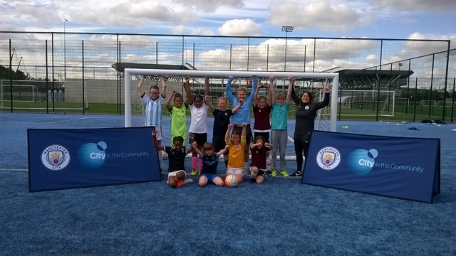 SURPRISE: Izzy Christiansen joined in City in the Community's Women and Girls session.
