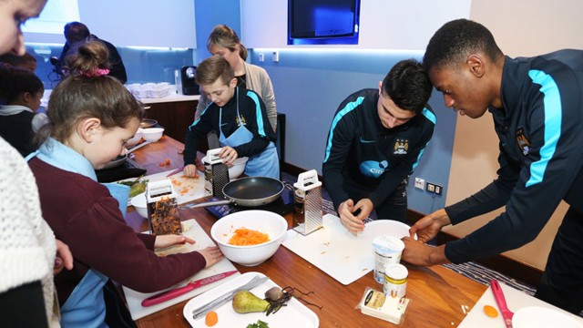 City cooks: Manu Garcia and Tosin Adarabioyo perfect their culinary skills