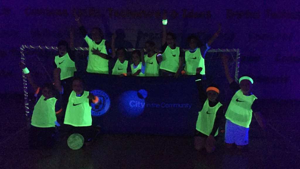 UNDER THE LIGHTS: City in the Community hosted their first girls Glow Football competition.