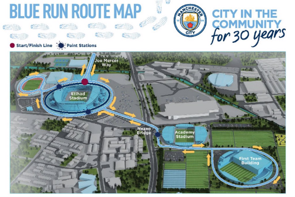 ROUTE: This year's Blue Run takes in all parts of the Etihad Campus.