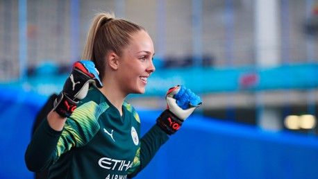 PLEASED AS PUNCH: City and England goakeeper Ellie Roebuck