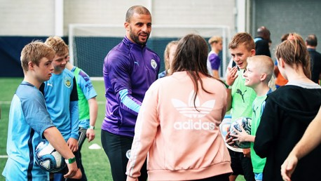 CELEBRATION: Kyle Walker was pleased to be able to show his support to the the One City initiative.