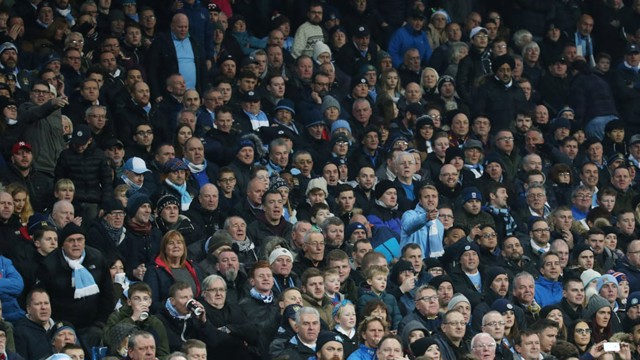 ENGROSSED: City fans absorbed in the action