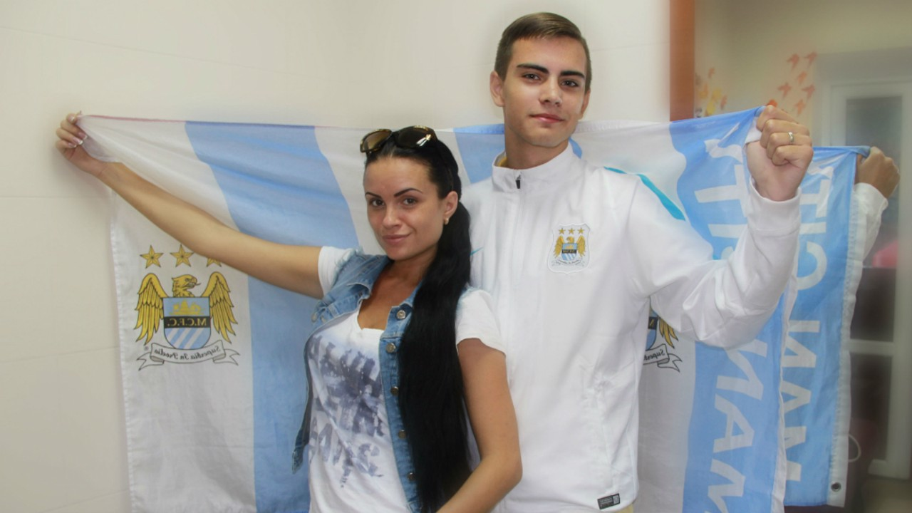 ARTHUR KOVALCHUK (right, Ukraine): 16-year-old Arthur will watch the match with his family at 2.30pm local time in Vinnitsa. Score prediction: United 0-1 City.