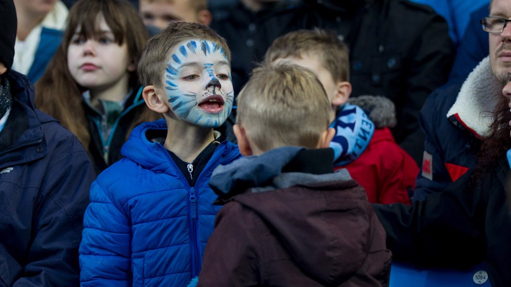 BLUE BOY: Loving the face paint!