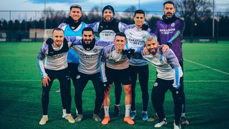 SQUAD GOALS: Imagine this lot turning up in your 5-a-side league!