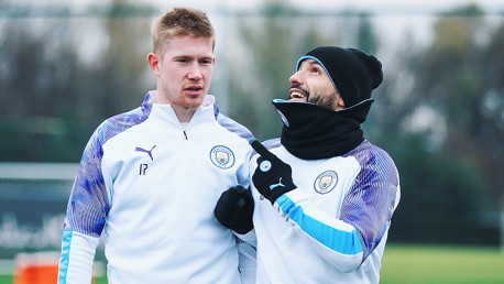 SPECIAL K: It was great to see both Kun and KDB back in tandem