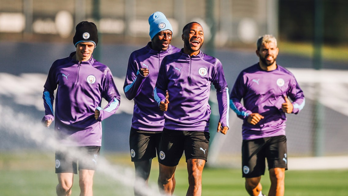 TRAINING: Fun in the sun ahead of Villa visit