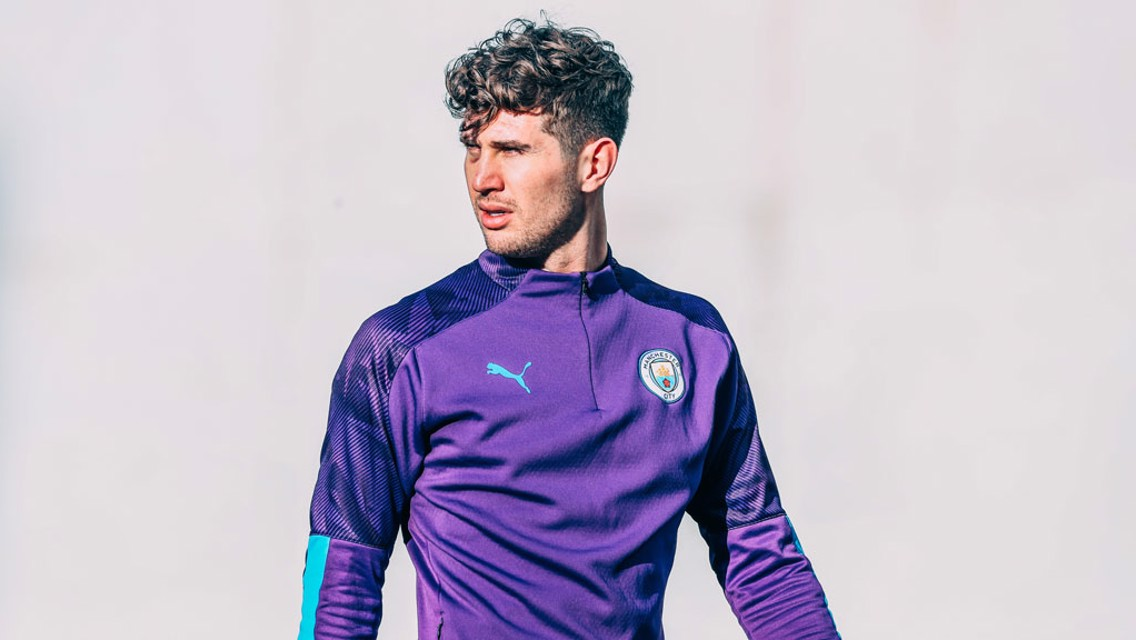 STONES COLD STARE: A candid shot of our centre-back