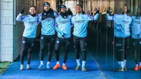 FRIDAY FUN: The lads are ready and raring for Saturday's FA Cup clash!