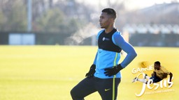 WELCOME GABRIEL: Jesus' first appearance at the CFA in his City training gear