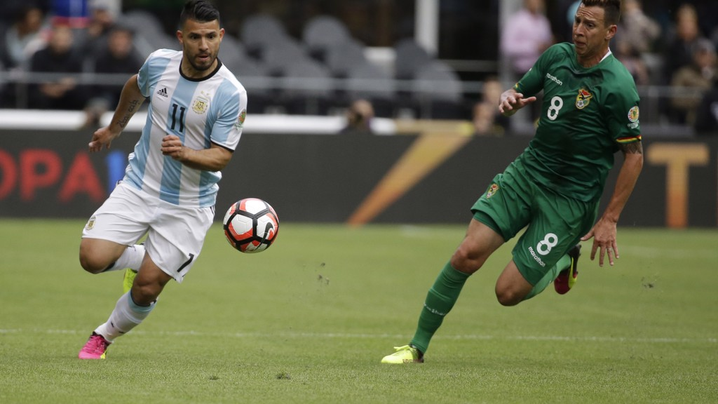 Sergio Aguero in action in the 2016 Copa America