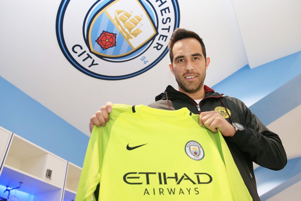 FOR THE BADGE: Bravo is eyeing success in the City shirt.
