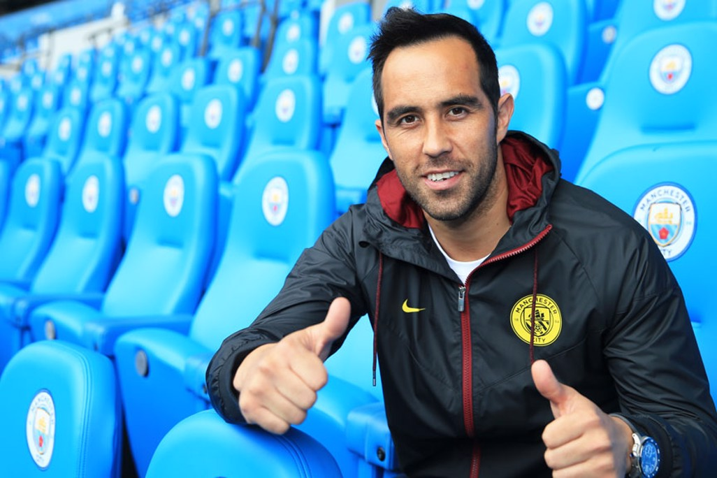 THUMBS UP:  Bravo expressed the pride he felt at signing for the Club.