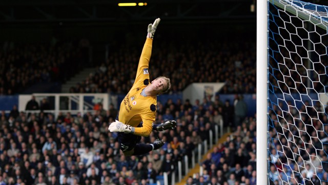 SUPERMAN: A young Hart flies through the air to tip a shot over in 2007 against Portsmouth