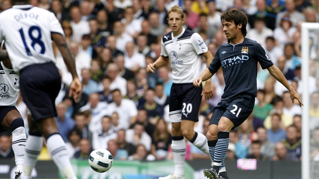 DEBUT: Silva makes his City bow against Tottenham in 2010