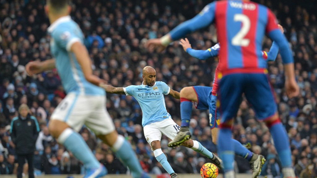 SHOOTING BOOTS: Delph smashes one home against Crystal Palace in 2016