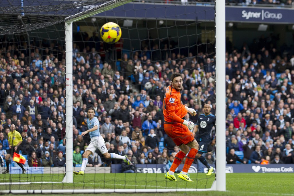 TOP CORNER: Navas scores against Spurs in spectacular style in 2013