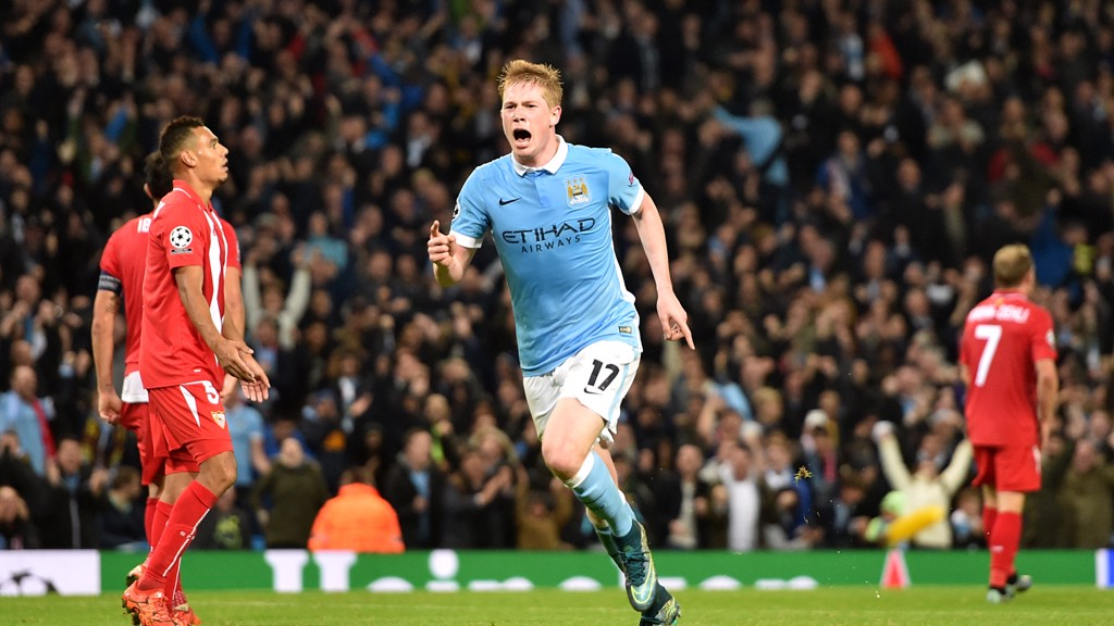 STOPPAGE TIME: De Bruyne nets in the final seconds to help City beat Sevilla in 2015