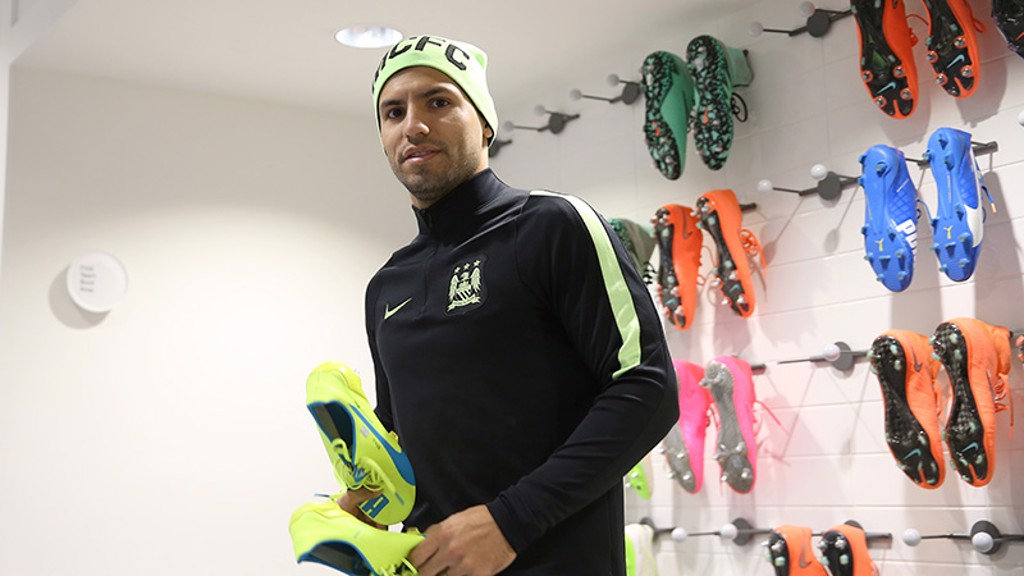 Fashion conscious: Matching boots and hat for Sergio