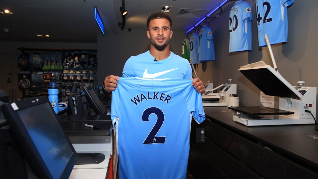 HOT OFF THE PRESS: With his new shirt and squad number.