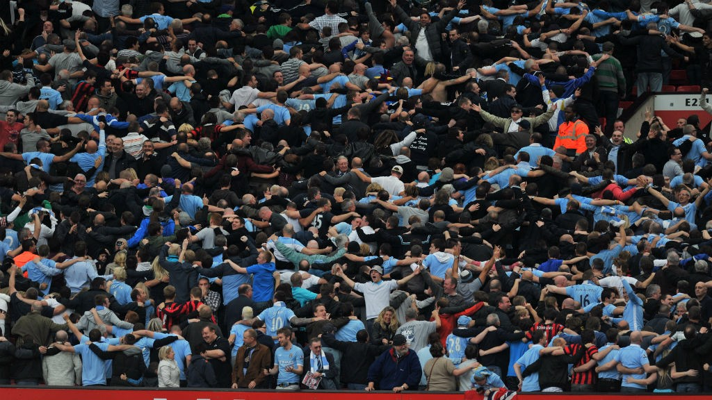 DERBY DAY: City fans celebrate in 2011