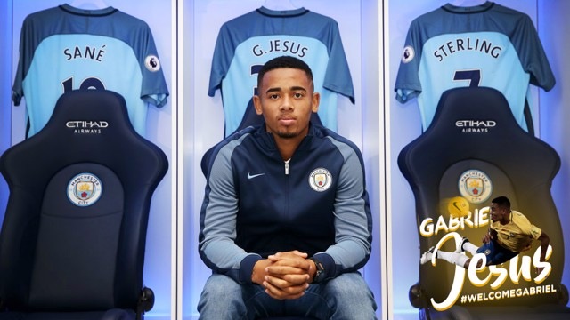 OPTIONS: Although mainly used on the left wing, Gabriel Jesus can play as a striker or on the right