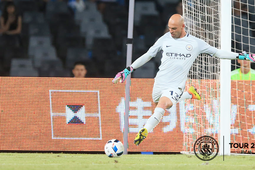 AWAY IT GOES: Caballero in action in Shenzhen!