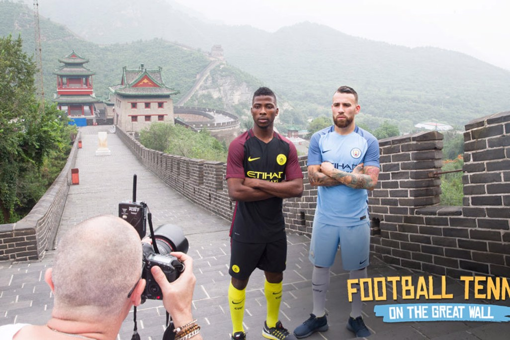 MEAN BUSINESS: Kelechi and Nico looking tough