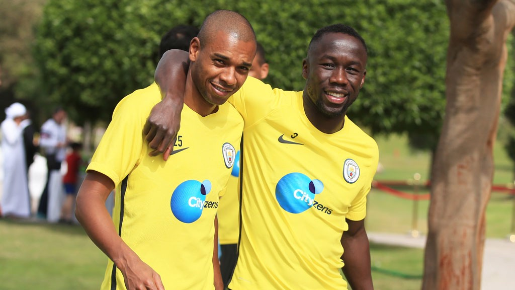 MY BOY: Fernandinho and Bacary Sagna