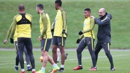 GETTING TO KNOW YOU: Pep keeps Gabriel Jesus on his toes