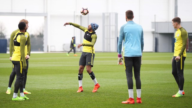FLICKS AND TRICKS: Fabian Delph with the skills.