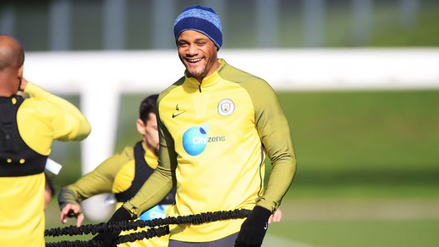 SAY CHEESE: Kompany smiles just in time for the camera.