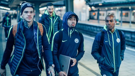 BRAZILIAN BLEND: Ederson, Gabriel Jesus and Fernandinho arrive in the capital