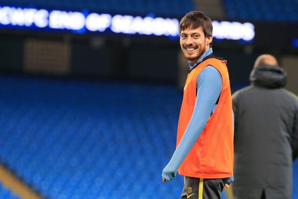 OVER THE SHOULDER: David Silva proves he doesn't actually have eyes in the back of his head...