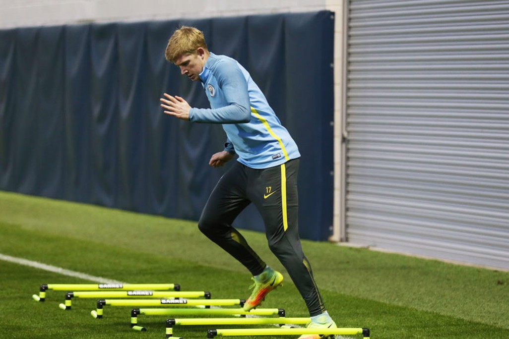 BUOYED: Kevin De Bruyne will be hoping to better an already-special week, following his engagement announcement