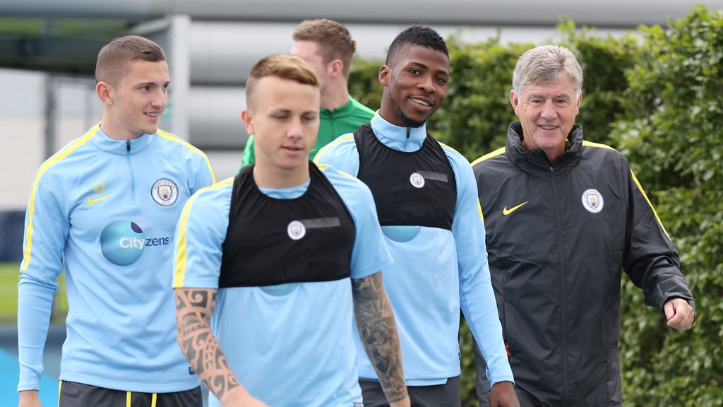 KELECHI AND KIDDO: The mood is bright and breezy in the City camp