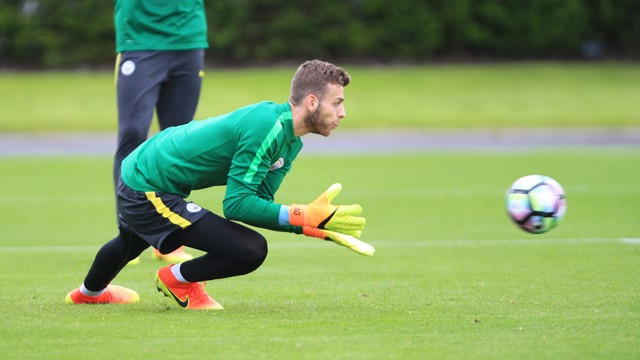 SAFE HANDS: All in a days work for Angus Gunn.