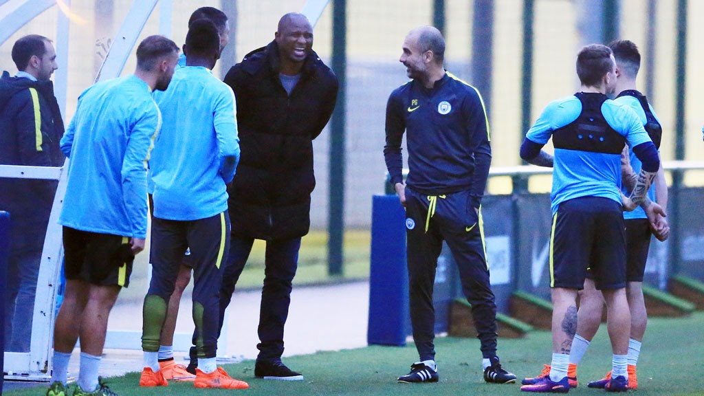 OLD FRIENDS: Patrick Vieira catches up