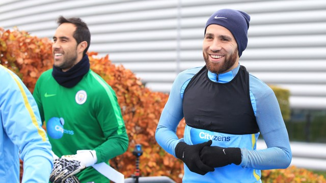 SOUTH AMERICA BOYS: Chile's Claudio Bravo and Argentina's Nicolas Otamendi