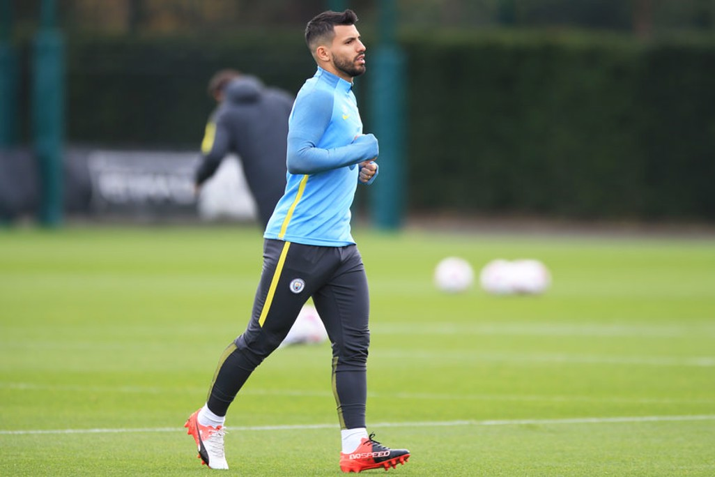 AGUERO FOCUS: Striker in action