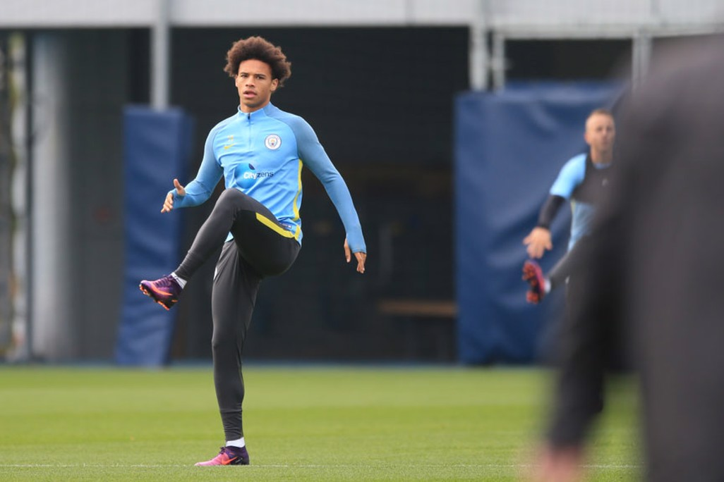 LEG UP: Sane warms up pre training