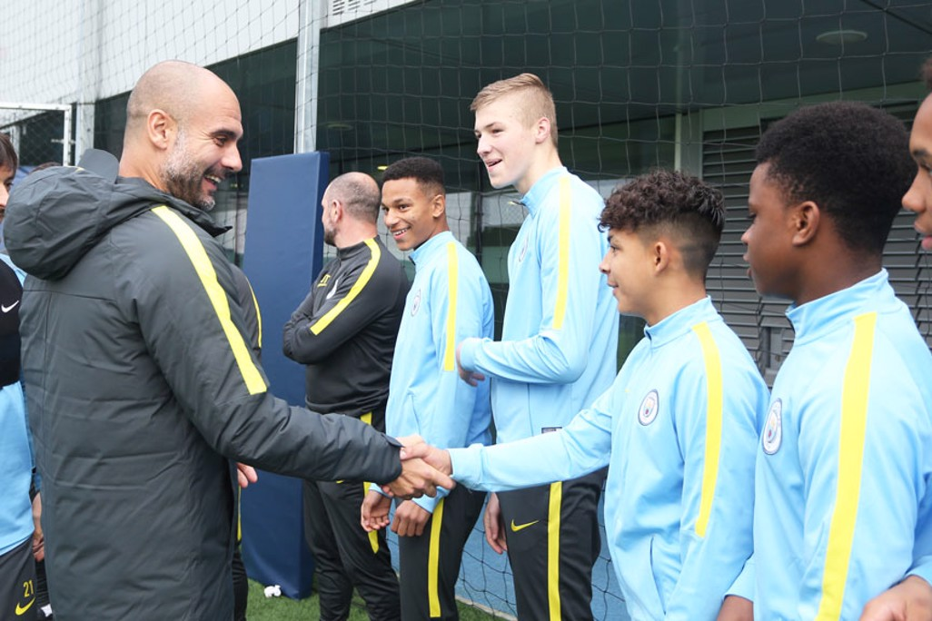 MEET AND GREET: Pep and David meet the U15 squad