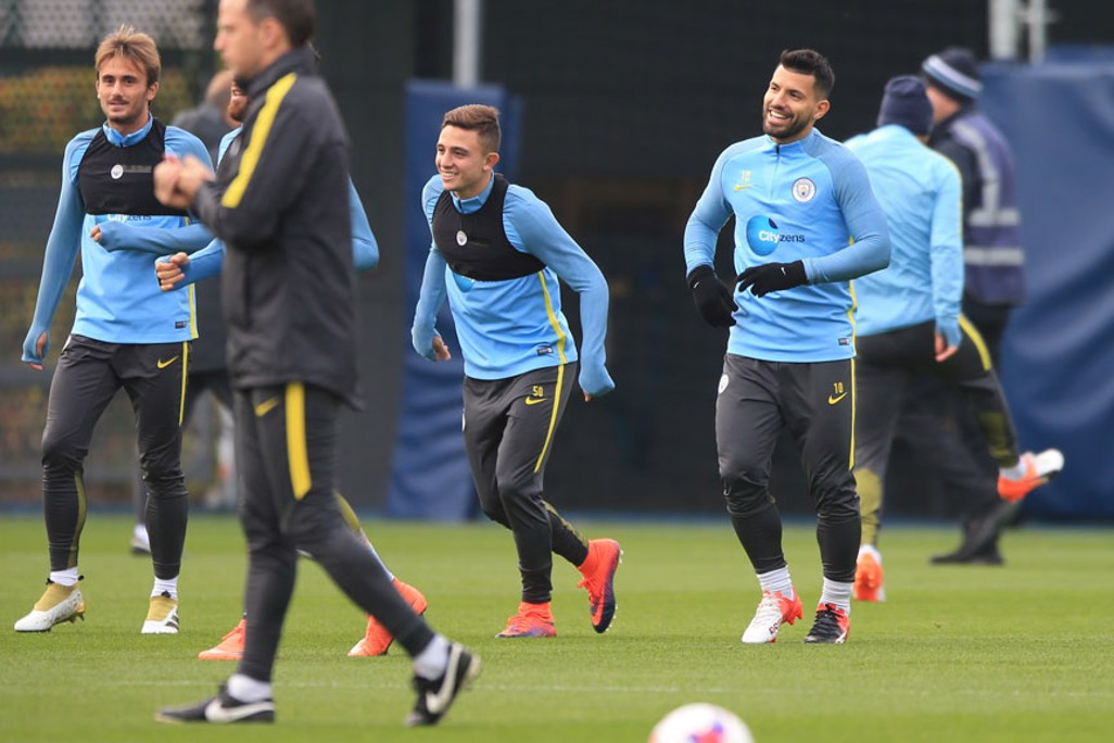 LAUGHS: Sergio smiles at somethign during practive