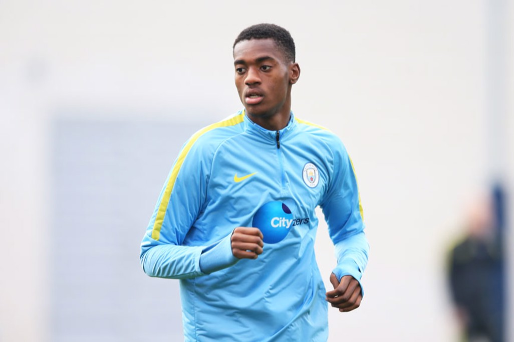 IN ACTION: Tosin Adarabioyo jogs it out