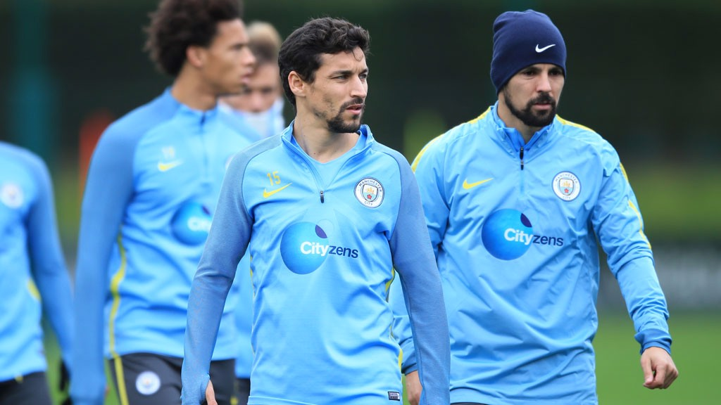 SERIOUS: Navas and Nolito mean business.