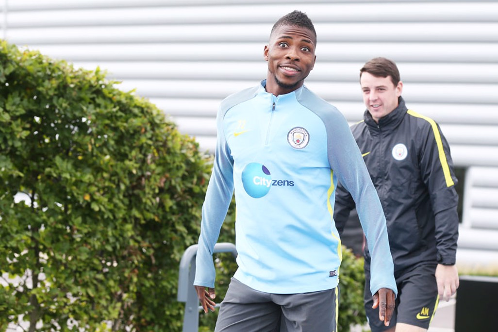 POSTER BOY: We'll add this to the catalogue of brilliant Kelechi poses.
