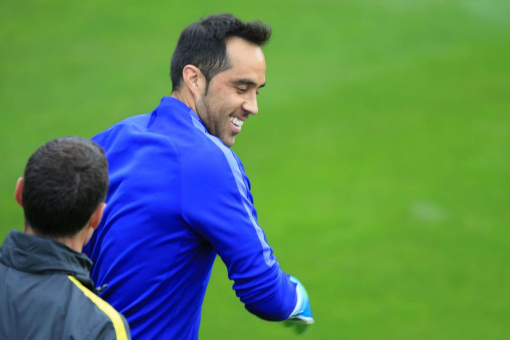 BRAVO! Goalkeeper Claudio in good spirits
